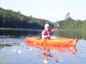 Kayaking, Nancy Brennan, Active Against Cancer