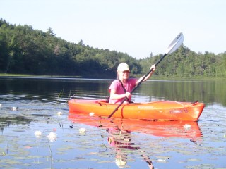 Kayaking, Nancy Brennan, Active Against Cancer